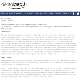 An article about integrating restoration dental impressions