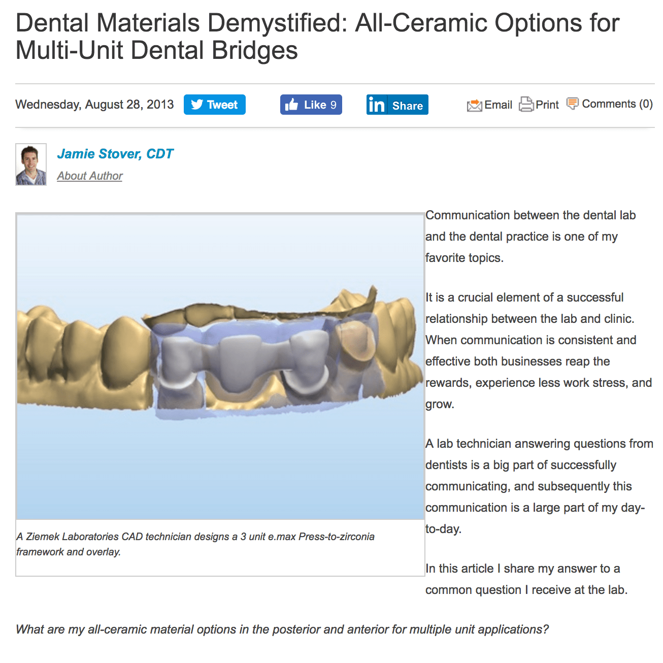 Our all-ceramic restoration dental system
