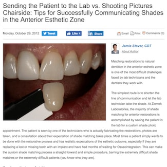 An article about Restoration Dental Shade Matching