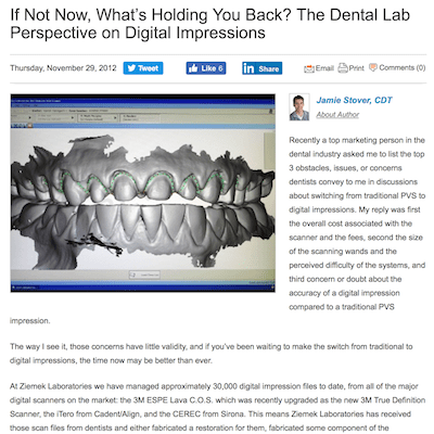 An article about restoration dental impressions