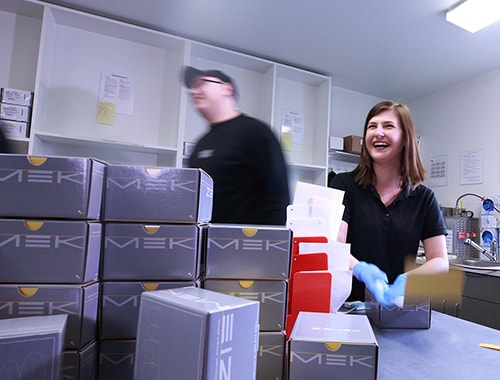 Our Digital Dental Lab team rushing around getting orders ready