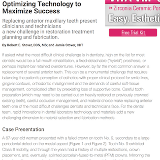 An article about restoration dental technology